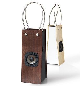 Aco - Yoshihiko Satoh's Bag-like Wooden Speaker 1