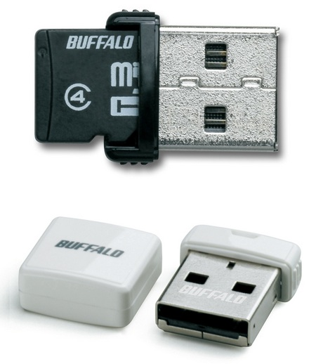 Buffalo RMUM-H Ultra Tiny USB Drive-microSDHC Reader Black 1