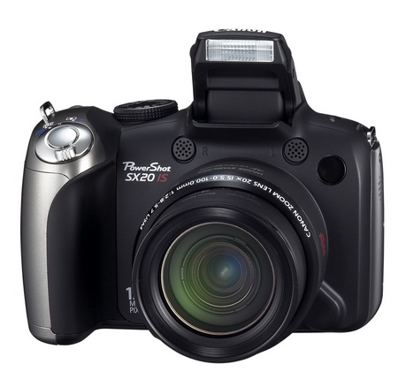 Canon PowerShot SX20 IS 20x zoom camera front
