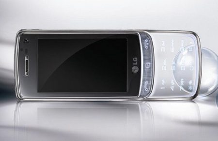 LG GD900 Crystal touch phone transparent design 1