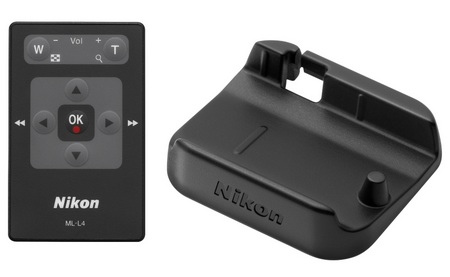 Nikon CoolPix S1000pj Camera with Built-in Projector remote dock