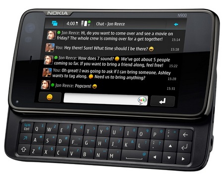 Nokia N900 Maemo Tablet messaging