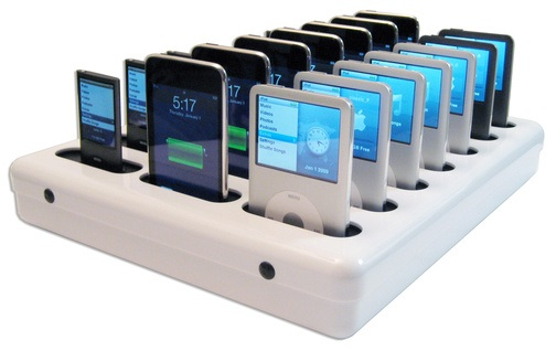 Parat Parasync docks 20 iPhones or iPods