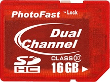 PhotoFast Dual Channel Class 10 SDHC