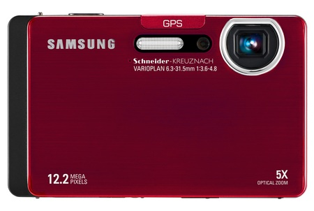 Samsung CL65 Compact Digicam with GPS, Bluetooth and WiFi red