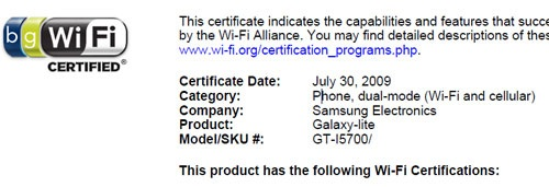 Samsung i5700 Galaxy Lite Touchscreen Phone