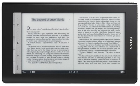 Sony Reader Daily Edition e-book Reader landscape