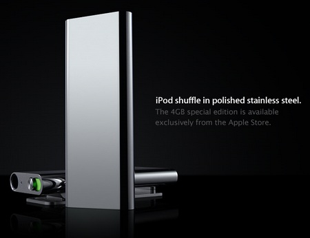 Apple iPod Shuffle 3G special edition polished stainless steel 2