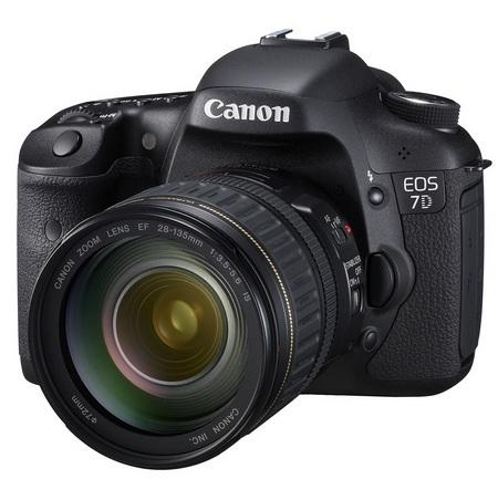 Canon EOS 7D Mid-range DSLR angle
