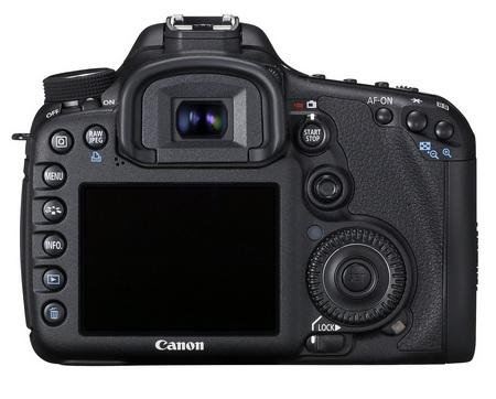 Canon EOS 7D Mid-range DSLR back