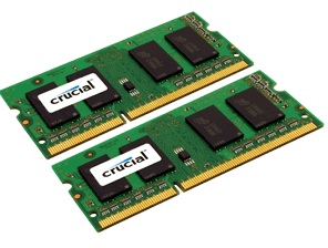 Crucial 1GB and 2GB DDR3-1333MHz SODIMM Modules