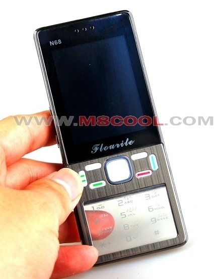 Flourite N68 Shanzhai Phone with transparent keypad front