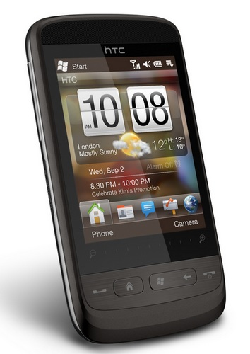 HTC Touch2 runs Windows Mobile 6.5 angle