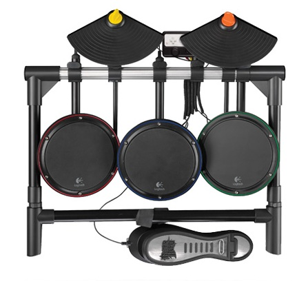Logitech Wireless Drum Controller for Wii top