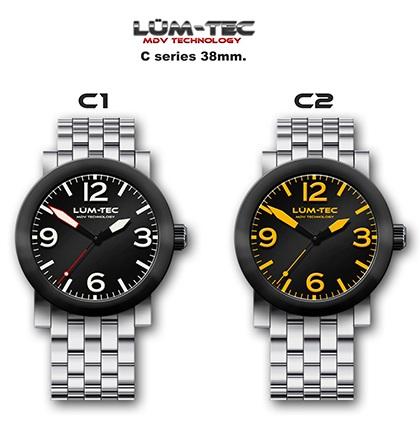 Lum-tec C series 38mm Automatic Watch c1 c2