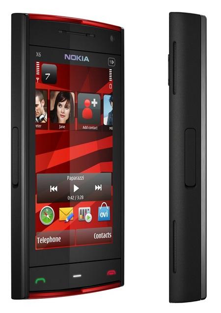 Nokia X6 Touchscreen Phone Red Black