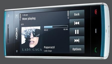 Nokia X6 Touchscreen Phone horizontal view