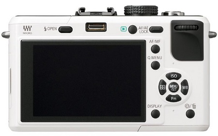 Panasonic Lumix DMC-GF1 compact DSLR back