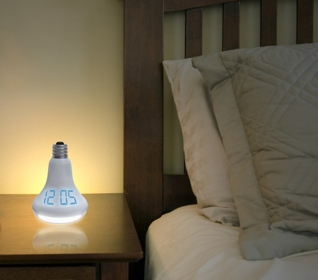 Quirky Watt Time light bulb shaped alarm clock