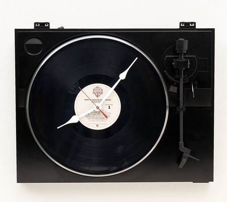 Recycled Fischer Turntable Clock