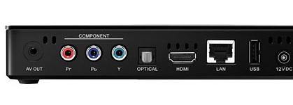 Seagate FreeAgent Theater+ HD Media Player back