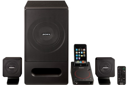 Sony SRS-GD50iP PC Speaker System with iPod iPhone Dock front
