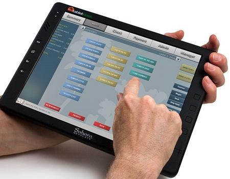 TabletKiosk Sahara NetSlate a230T Tablet PC in use
