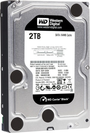 Western Digital Caviar Black 7200RPM 2TB Hard Drive
