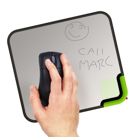 quirky Scratch-n-Scroll Noteable Mousepad in use top