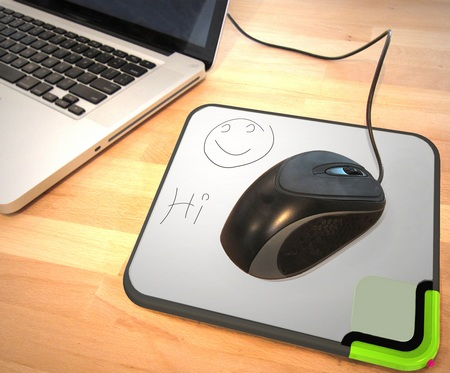 quirky Scratch-n-Scroll Noteable Mousepad