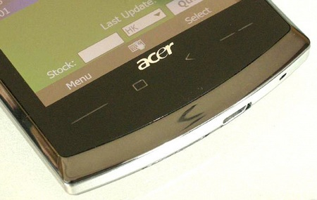 Acer neoTouch SnapDragon WM6.5 Smartphone live touch-sensitive button