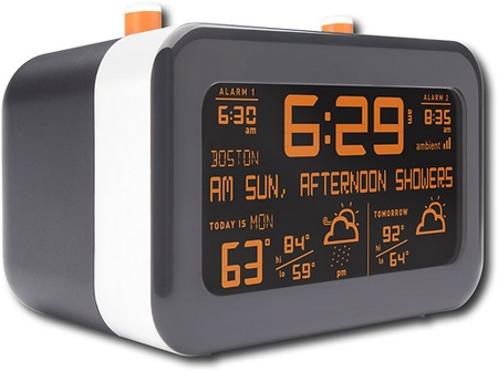 Ambient Flurry Alarm Clock does also Weather Forecast angle