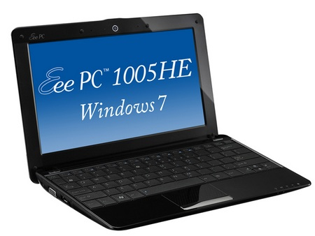 Asus Eee PC Seashell 1005HE-WS Windows 7 netbook
