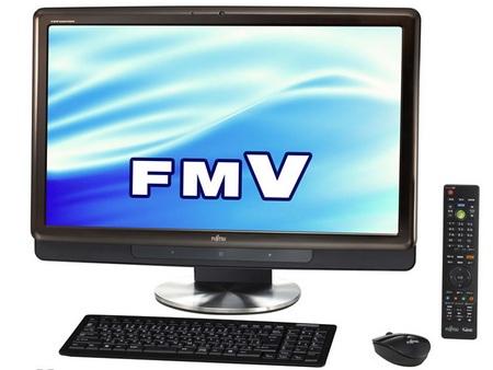 Fujitsu FMV-DeskPower all-in-one PC Windows 7 black