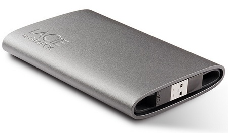 LaCie Starck Mobile Hard Drive back