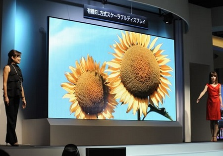 Mitsubishi 155-inch OLED Display