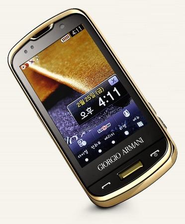 Samsung GIORGIO ARMANI SPH-W8200 Touchscreen Slider 2