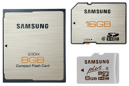 Samsung Premium Plus SD, microSD and CF Memory Cards