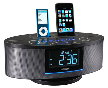 Sanyo DMP-692 Dual Dock Music System for iPod iPhone