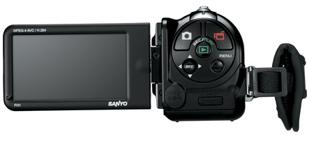 Sanyo Xacti VPC-FH1A Full HD camcorder back