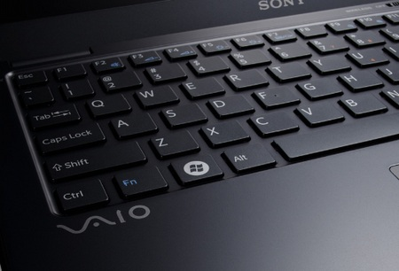 Sony VAIO X - World's Lightest Notebook keys