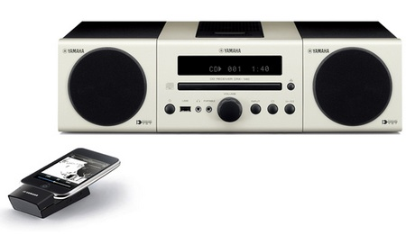 Yamaha MCR-140 iPod CD Audio System white