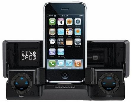 Dual XML8110 in-dash iPhone iPod Dock opened