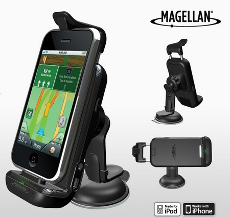 Magellan Premium Car Kit and RoadMate App for iPhone iPod touch