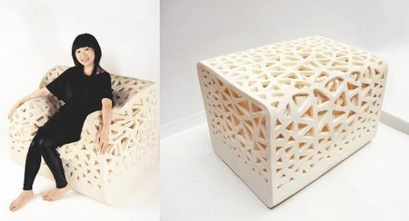 Tofu-shaped Breathing Chair