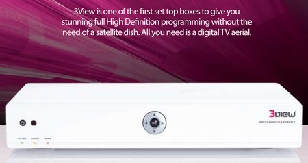 3View Box Internet-Connected HDTV Set-top Box