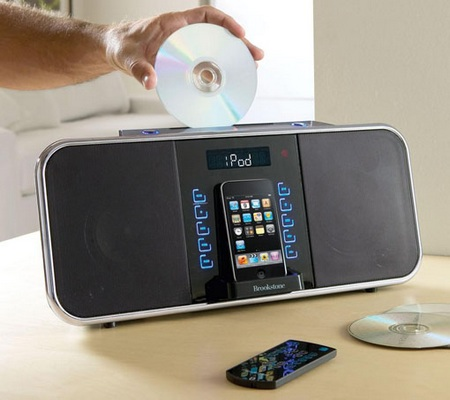 Brookstone iDesign 2-in-1 Music System with iPod Dock