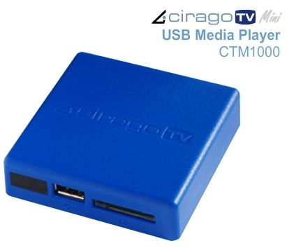 CiragoTV Mini CTM1000 Tiny HD Media Player