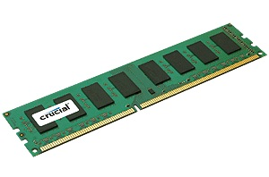 Crucial 4GB DDR3-1333MHz non-ECC UDIMM memory modules