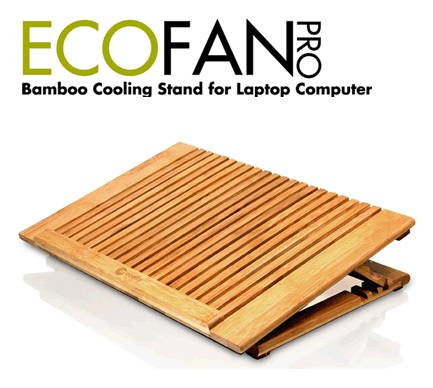 Macally EcoFanPro Bamboo Notebook Cooling Stand